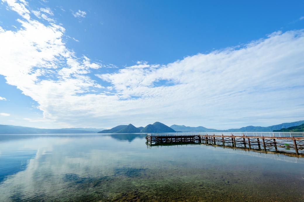 夏の北海道!天体のメソッドの舞台の洞爺湖と、望羊蹄のカニバターライス